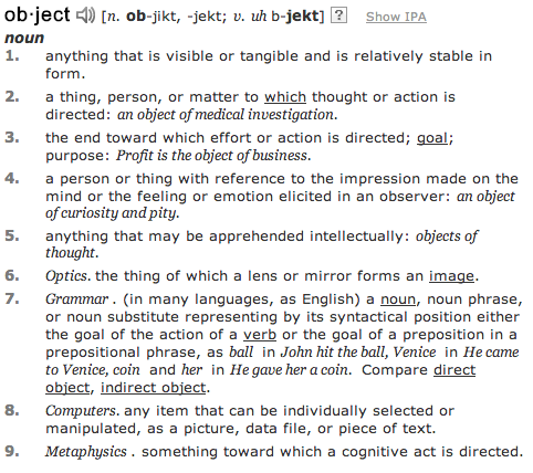 object_dictionary